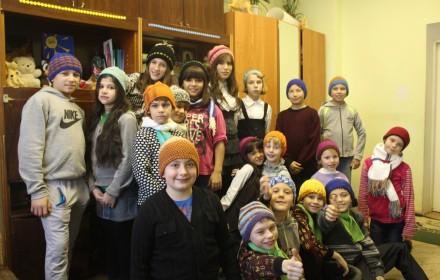die Kinder des Kinderheimes von Opochka