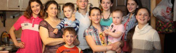 Eugenia und ihre 9 Kinder, Russland