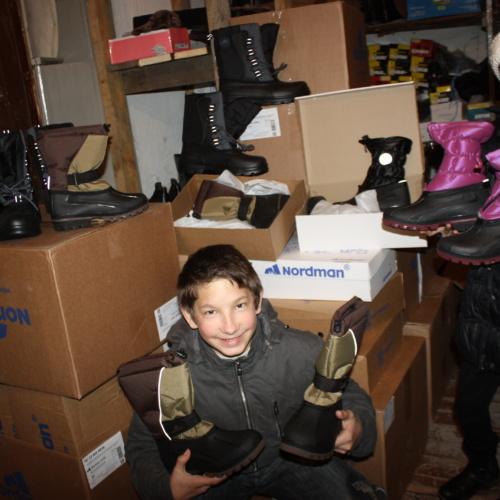 Kinder des Kinderheimes von Opochka