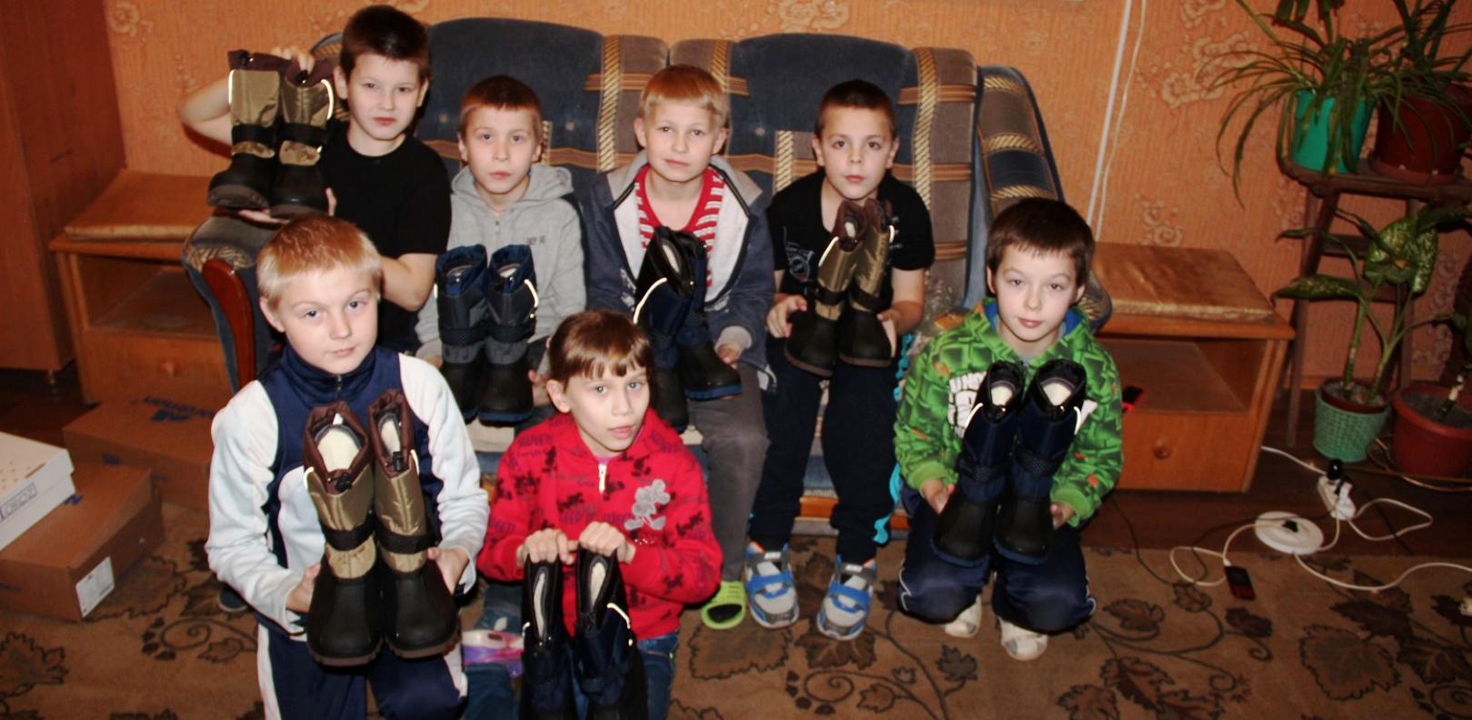 Warmes Schuhwerk für Kinder in Not