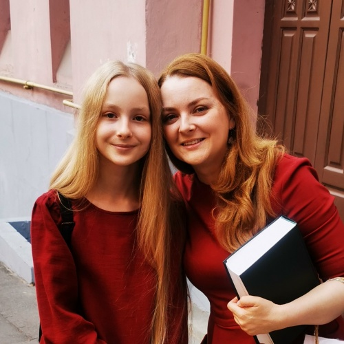 Solomea und ihre Mama Tetiana