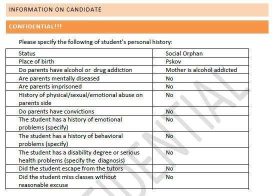 Student-dossier