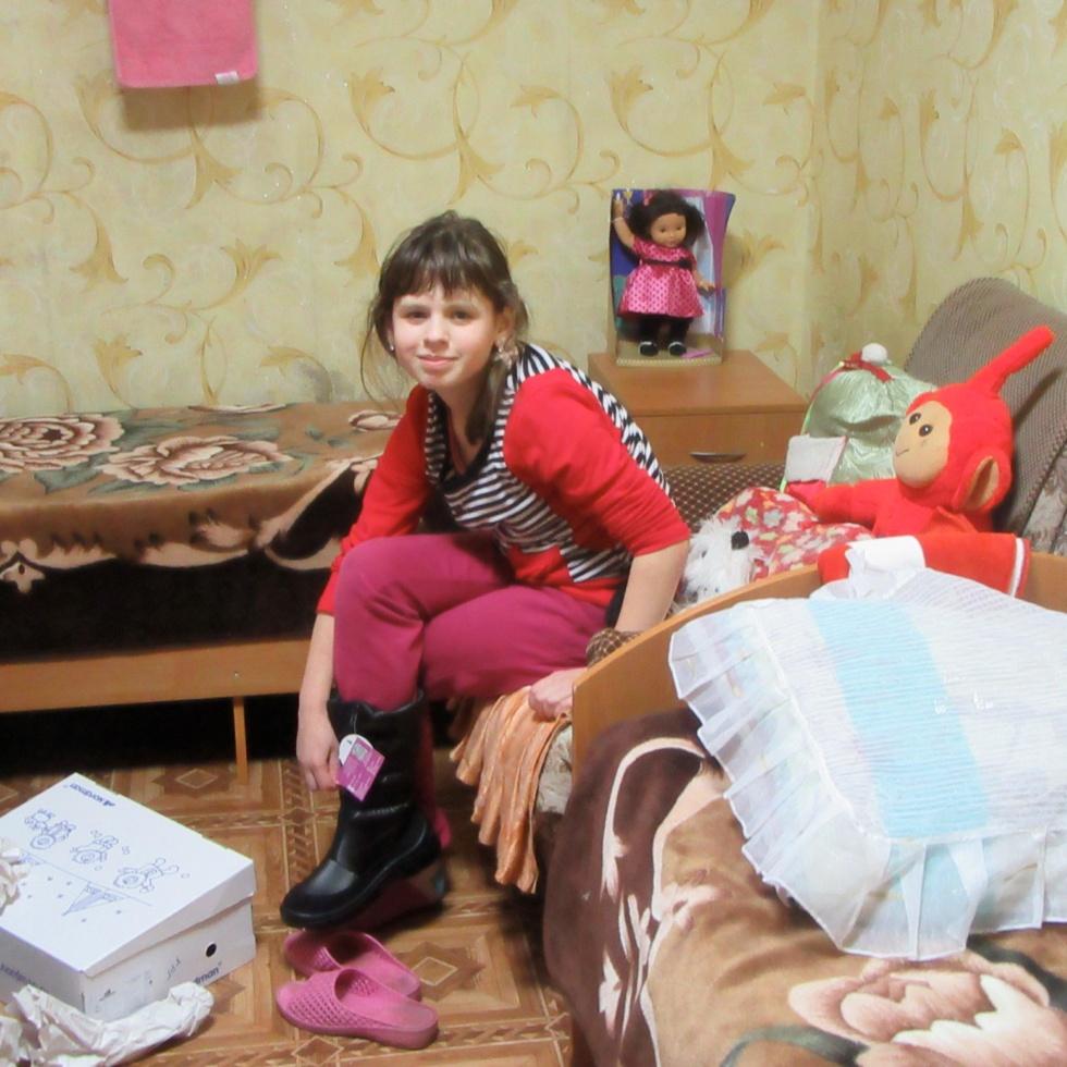 Kinder des Kinderheimes von Krasnogorodsk