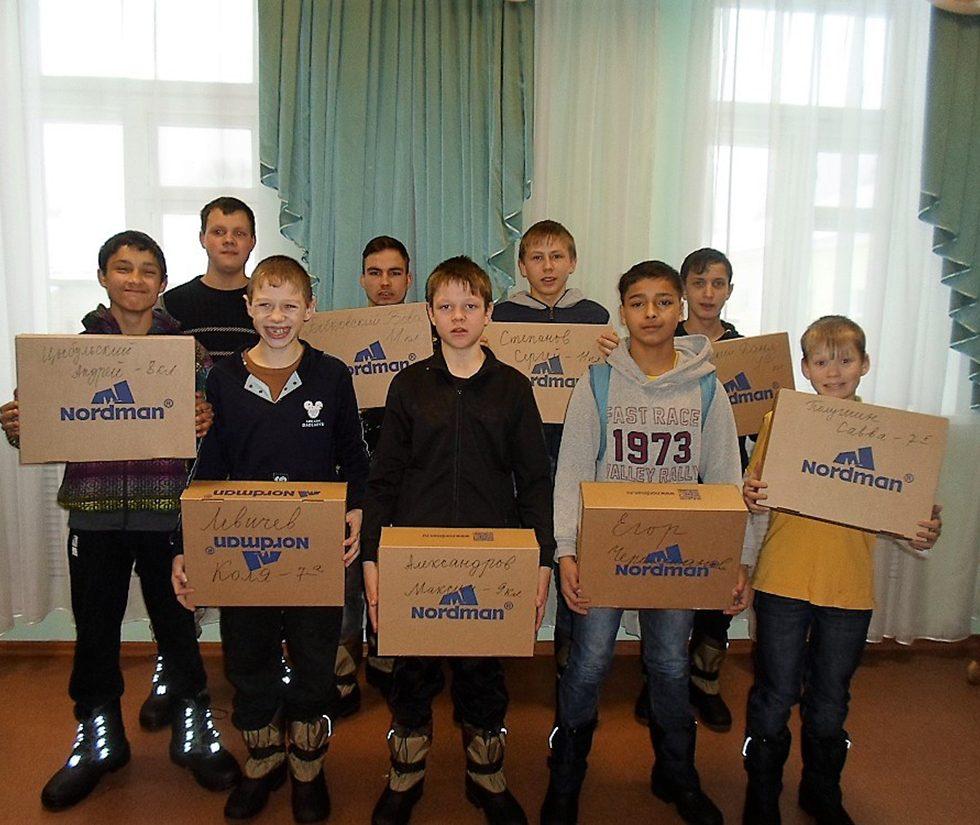 Kinder des Kinderheimes von Vorontsovo